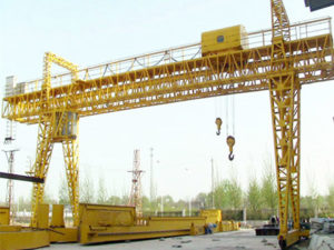 rail mounted gantry crane with truss structure sales